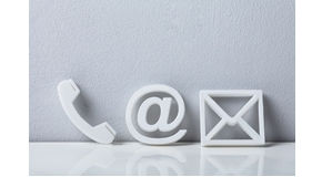 Contact,Methods.,Close-up,Of,A,Phone,,Email,And,Post,Icons